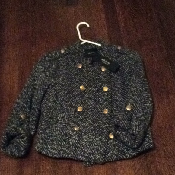Ark & Co Jackets & Blazers - Tweed military style lined ark & co. Jacket NWT